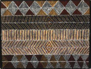Jilamara - Painting - Linus Warlapinni